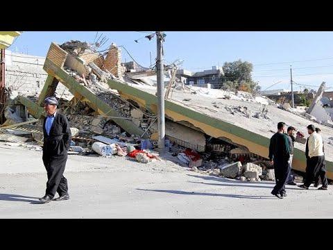 (Vídeo) Irán deja de buscar supervivientes entre los escombros del terremoto