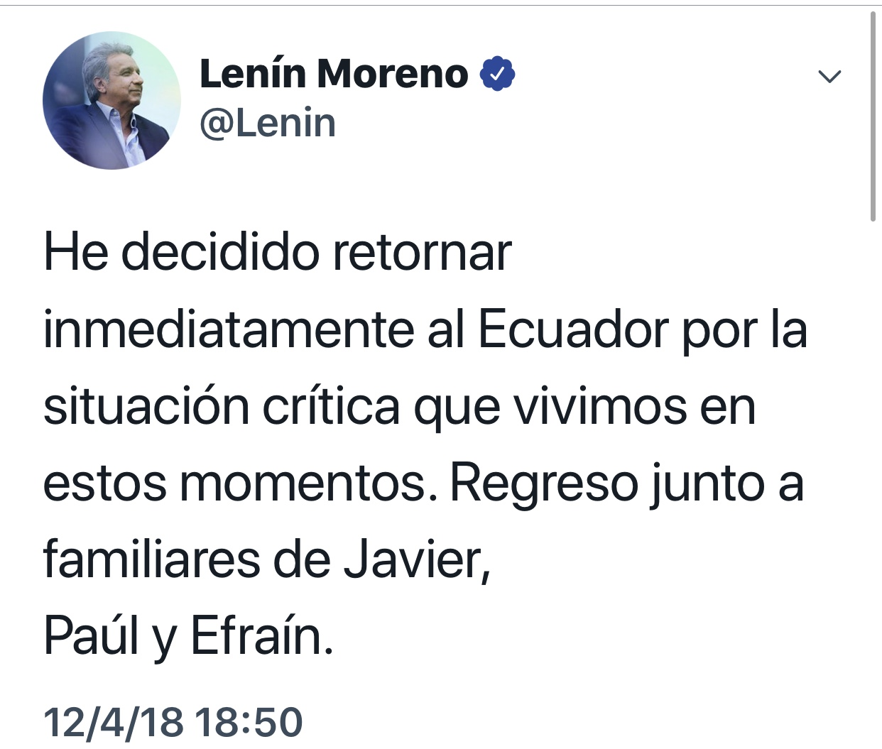 Confirma presidente de Ecuador el asesinato de tres periodistas