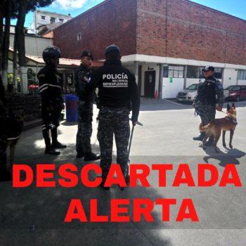 policia descarta amenaza bomba