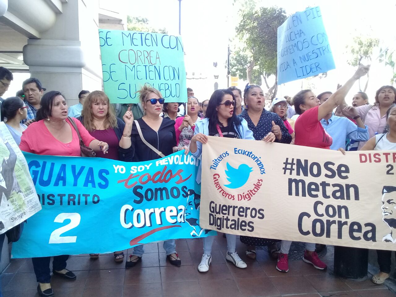 Simpatizantes Correa