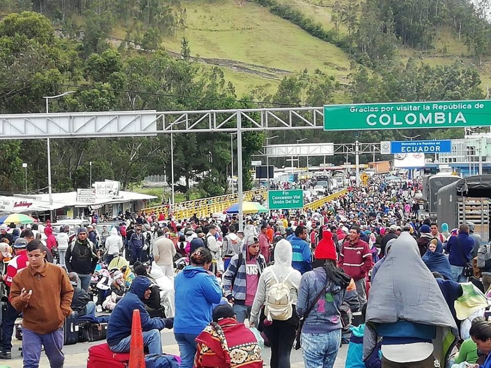 venezolanos frontera norte